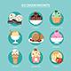 Favorite of Ice Cream Set Flat Design - GraphicRiver Item for Sale