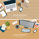 Top View Office Workplace on Wood Table - GraphicRiver Item for Sale