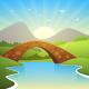 Landscape with Bridge - GraphicRiver Item for Sale