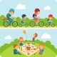 Picnic Family Flat Illustration - GraphicRiver Item for Sale