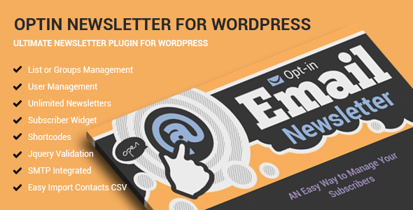 Optin Newsletter For WordPress