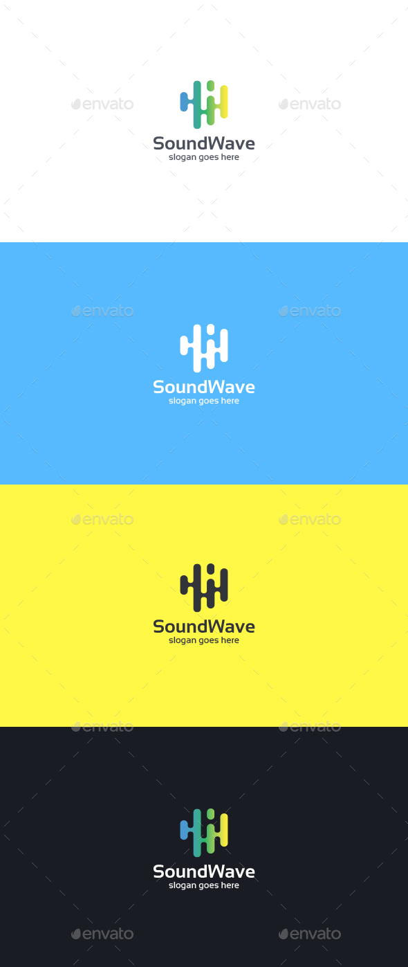 Sound Wave Logo Template