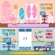 Boy Girl Bedroom and Workspace - GraphicRiver Item for Sale