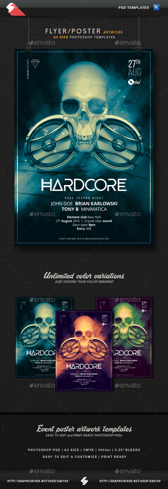 A3 Skull Graphics, Designs & Templates from GraphicRiver