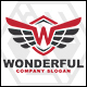 Wonderful - Letter W / Wing Logo - GraphicRiver Item for Sale