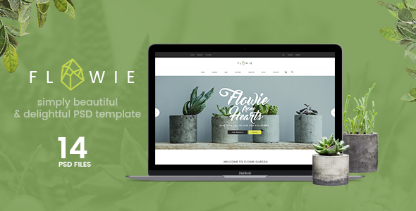 Flowie - Gardening & Home Decoration Shop PSD Template