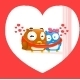 Owl in love - GraphicRiver Item for Sale