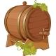 Wine Cask Vine Decorated - GraphicRiver Item for Sale