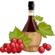 Red Wine In Italian Fiasco Bottle  - GraphicRiver Item for Sale