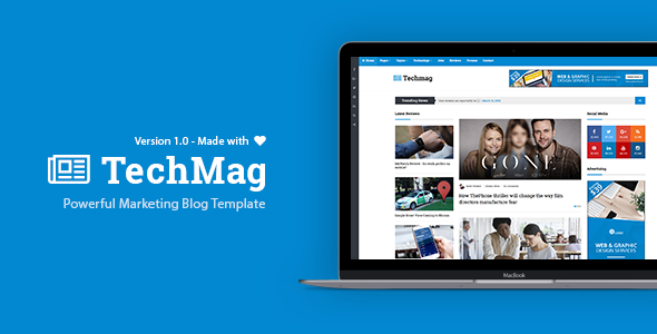 TechMag - News and Magazine BootStrap Template