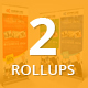 Bundle of 2 Multi Business Rollup Banners - GraphicRiver Item for Sale