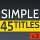Simple Titles - v2 - VideoHive Item for Sale