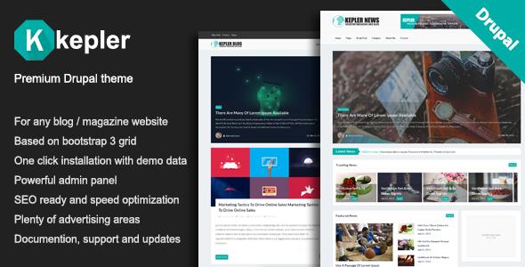 Kepler – Premium Blog/Magazine Drupal theme