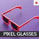 Pixel glasses model - 3DOcean Item for Sale