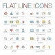 Vector Illustration Of Thin Line Color Icons - GraphicRiver Item for Sale