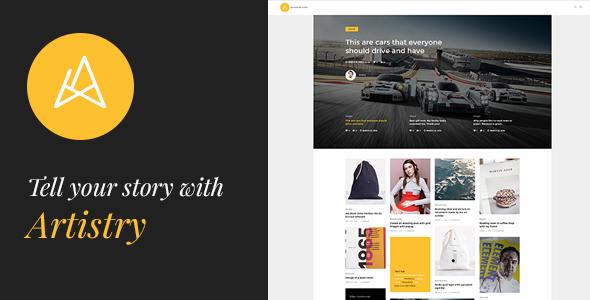 Artistry - News, Magazine, Blog & Personal WordPress Theme