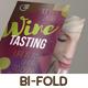 Wine Tasting Bi-Fold Brochure - GraphicRiver Item for Sale