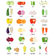 Set of Vegetables Icons with their Name - GraphicRiver Item for Sale