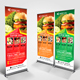 Fast Food Roll Up Banner V35 - GraphicRiver Item for Sale
