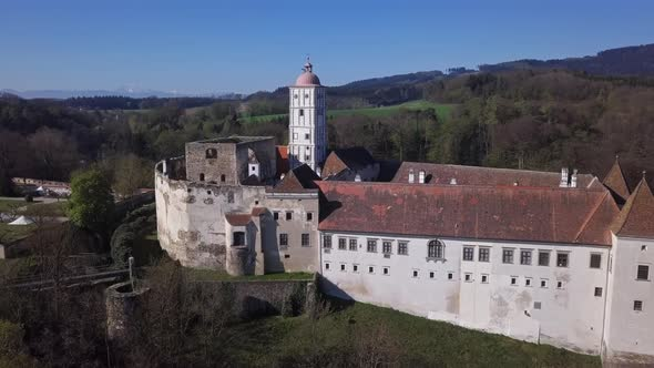 Aerial View of Schallaburg Castle, Austria