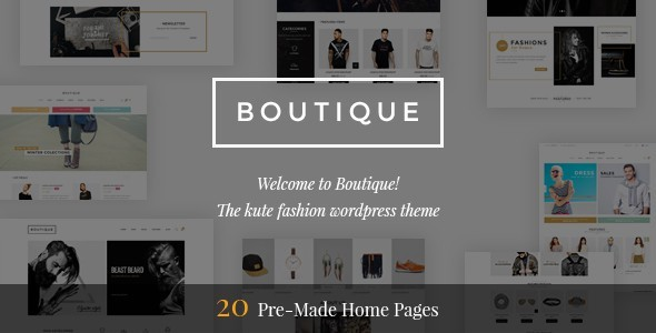 Boutique - Kute Fashion WooCommerce Theme ( RTL Supported ) Download