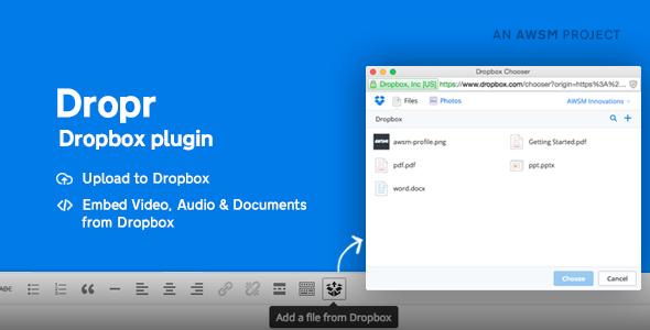 Dropr - Dropbox Plugin for WordPress Download