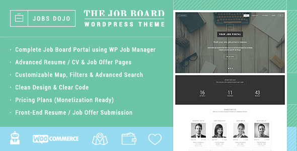 JobsDojo - The WordPress Job Board Portal Theme