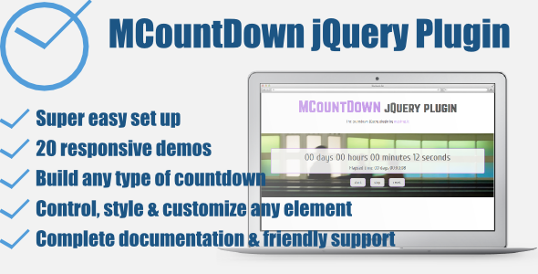 MCountDown - Responsive jQuery Countdown Plugin