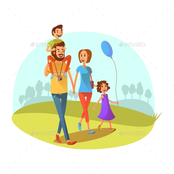 Family Weekend Illustration