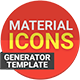 Material Design Icons Generator Template - GraphicRiver Item for Sale