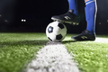 Foot on soccer ball - PhotoDune Item for Sale