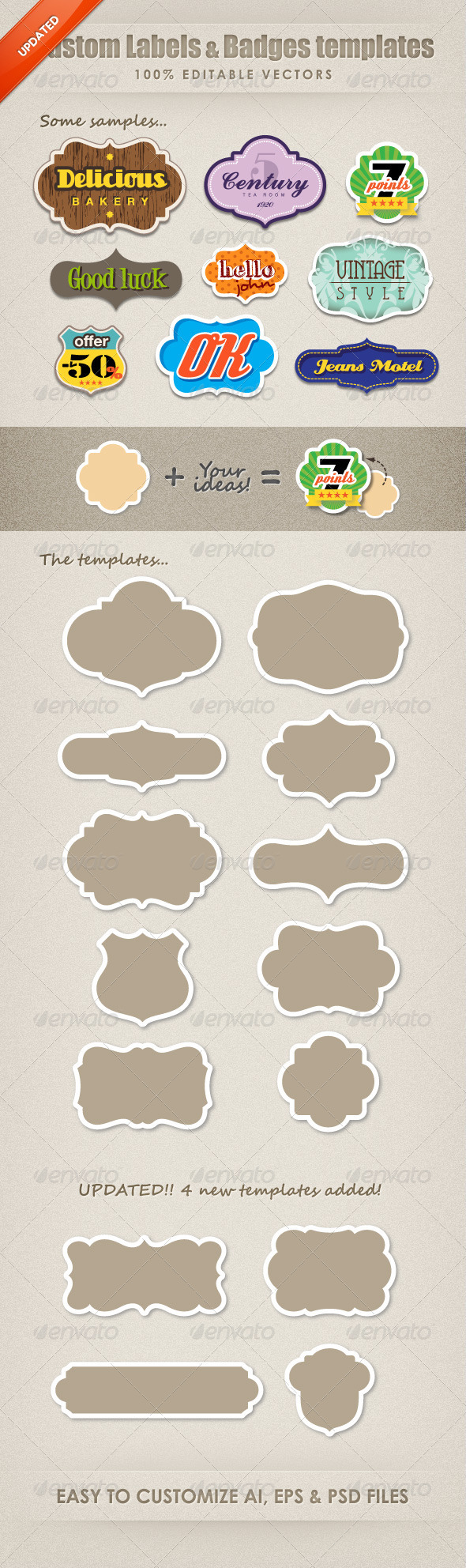 Sign Badges & Sticker Templates from GraphicRiver