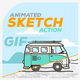 Animated Sketch GIF Action - GraphicRiver Item for Sale