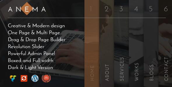 Anema | Creative OnePage & MultiPage WordPress Theme