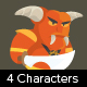 4 Game Demons Characters - GraphicRiver Item for Sale