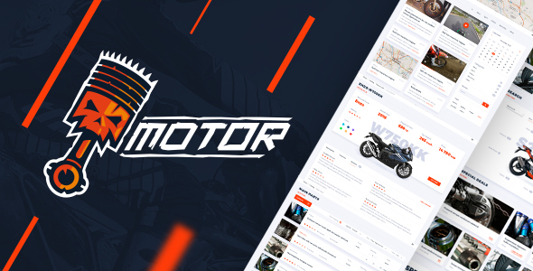 Motor – Vehicles, Parts & Accessories Store - PSD Template