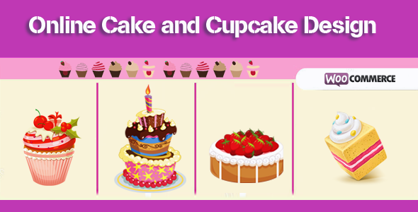 Online Cake and Cupcake Design for Woocommerce