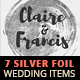 7 Silver Hot Foil Items - Wedding Pack - GraphicRiver Item for Sale