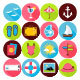 Summer Vector Flat Icons - GraphicRiver Item for Sale