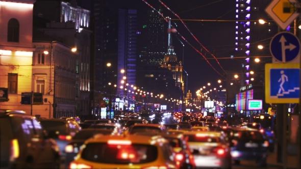 Night City Traffic Jam