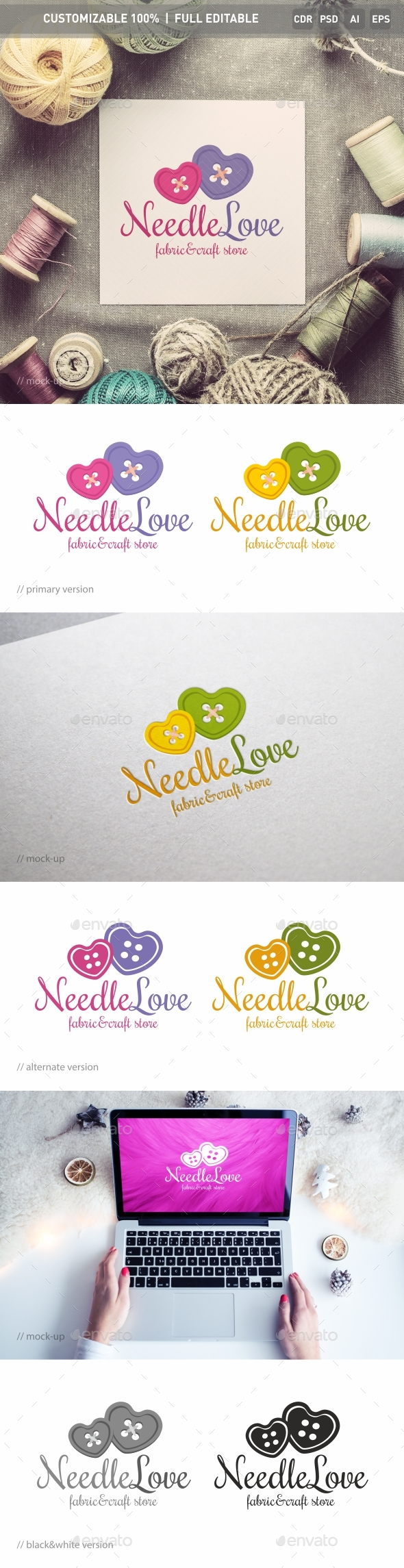 NeedleLove Logo Template