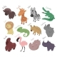 Set of Cartoon Animals - GraphicRiver Item for Sale