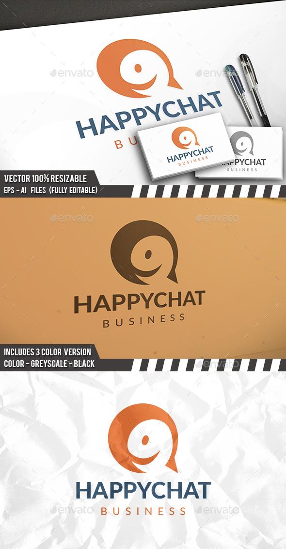 Happy Logo Template Logo