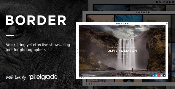 BORDER – A Delightful Photography WordPress Theme