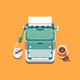 Retro Typewriter - GraphicRiver Item for Sale