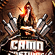 Camo Costume Party PSD Flyer Template - GraphicRiver Item for Sale
