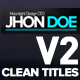 Clean Titles Lower Thirds V2 - VideoHive Item for Sale