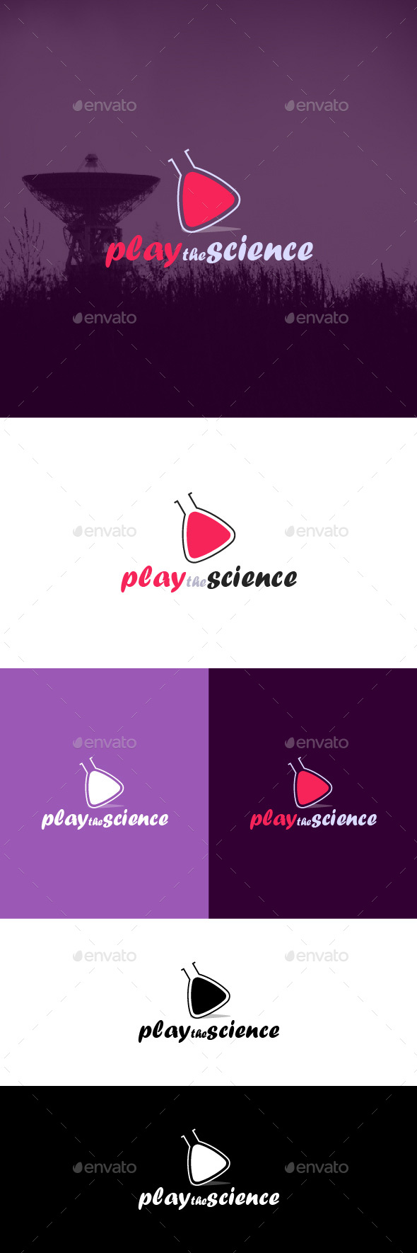 Play the Science Logo Template
