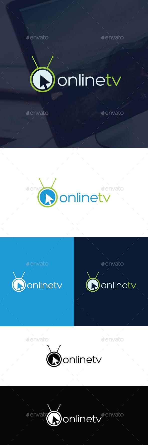 Online TV Logo Template