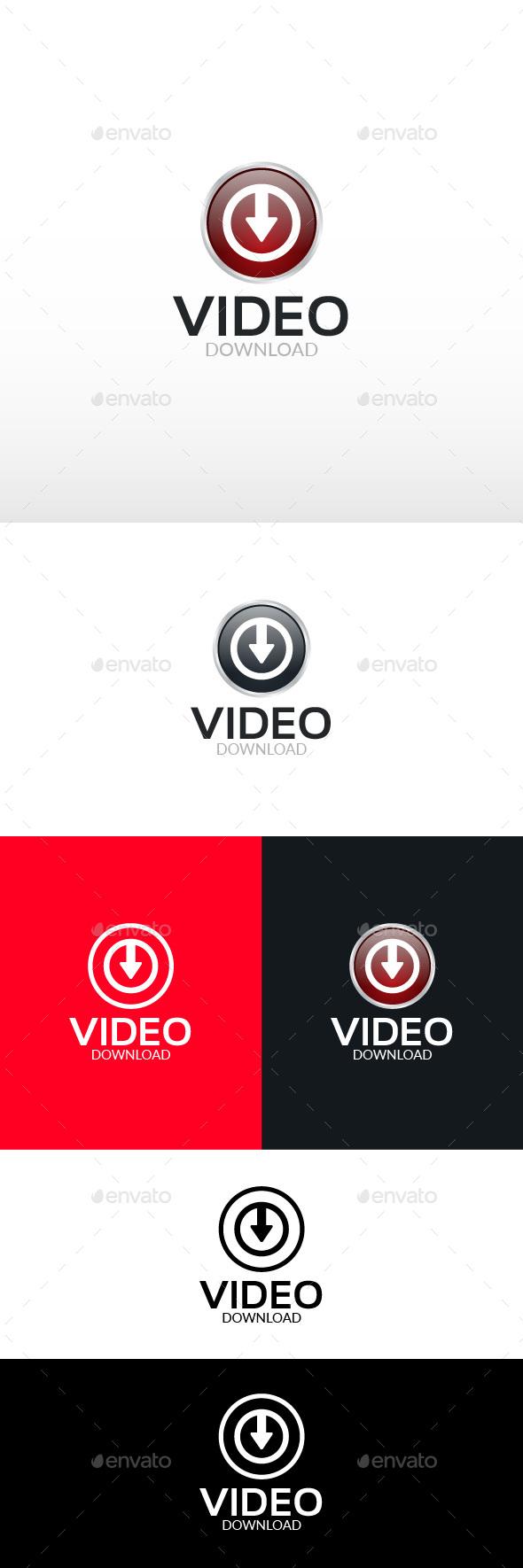 Video Downloader Logo Template